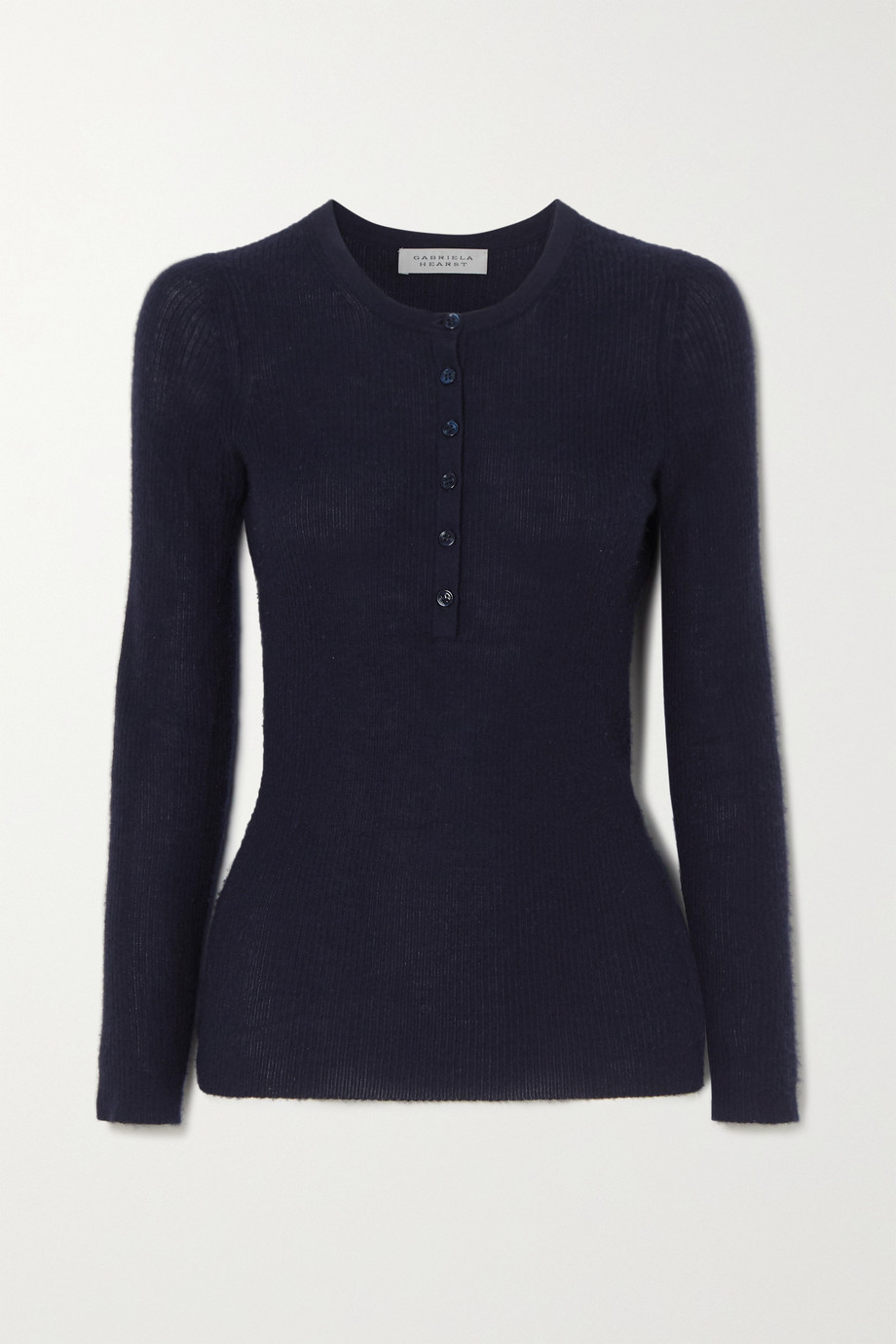 Gabriela Hearst Julian ribbed cashmere and silk-blend top