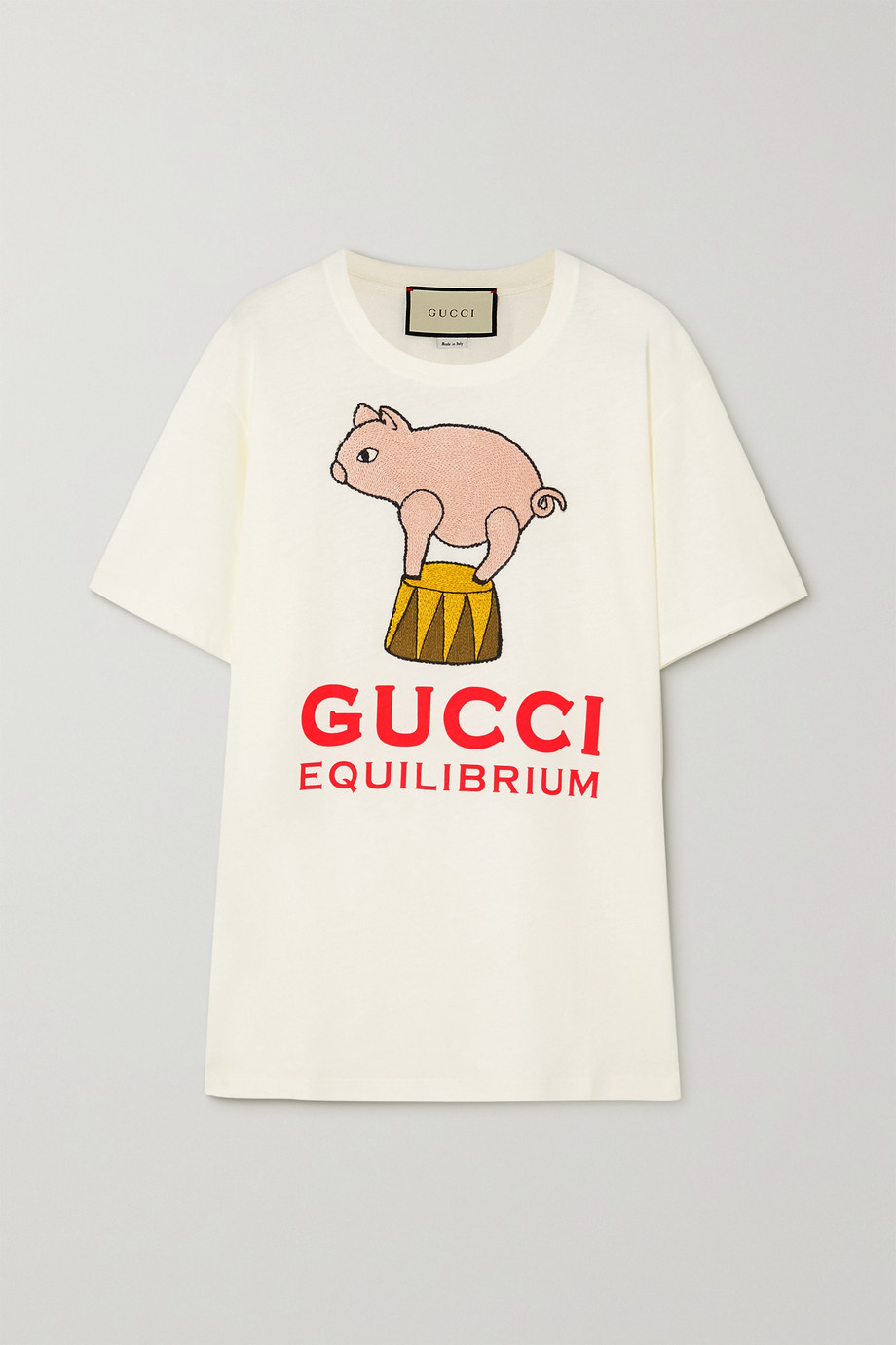 GUCCI + NET SUSTAIN oversized appliquéd printed organic cotton-jersey T-shirt
