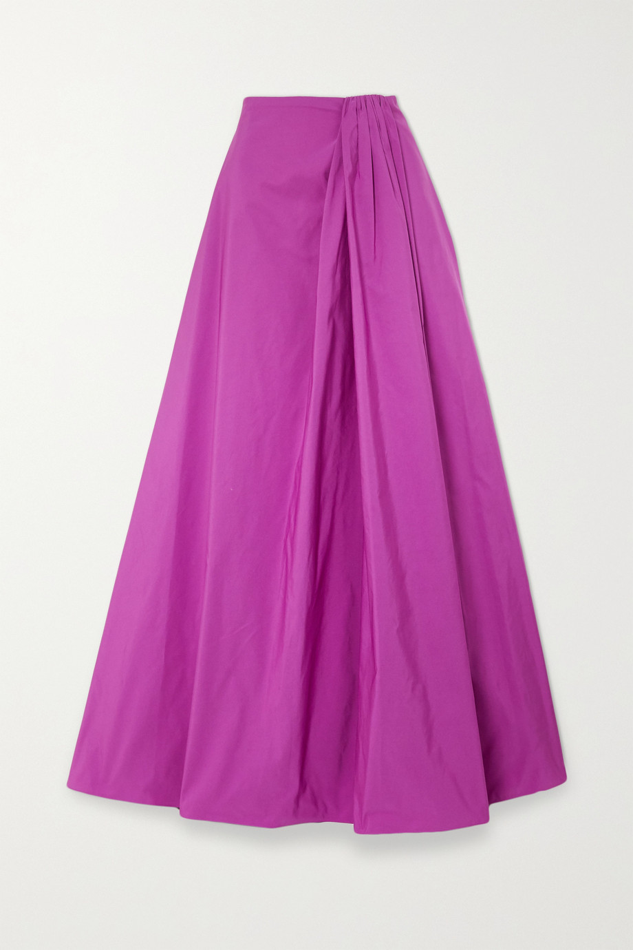 VALENTINO Gathered cotton-blend maxi skirt