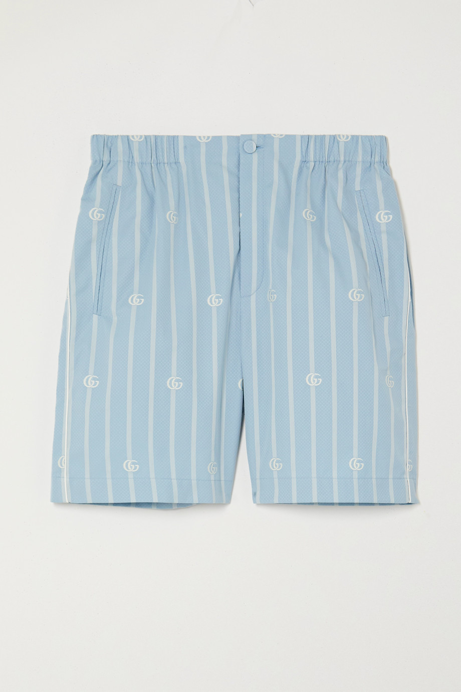GUCCI Striped cotton-jacquard shorts
