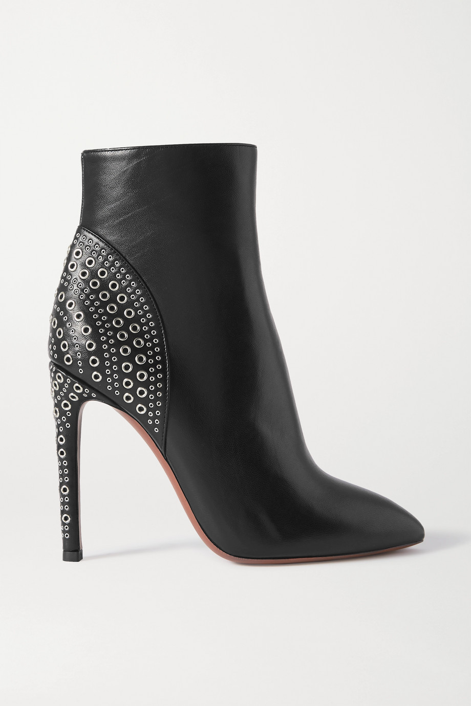ALAÏA 110 eyelet-embellished leather ankle boots