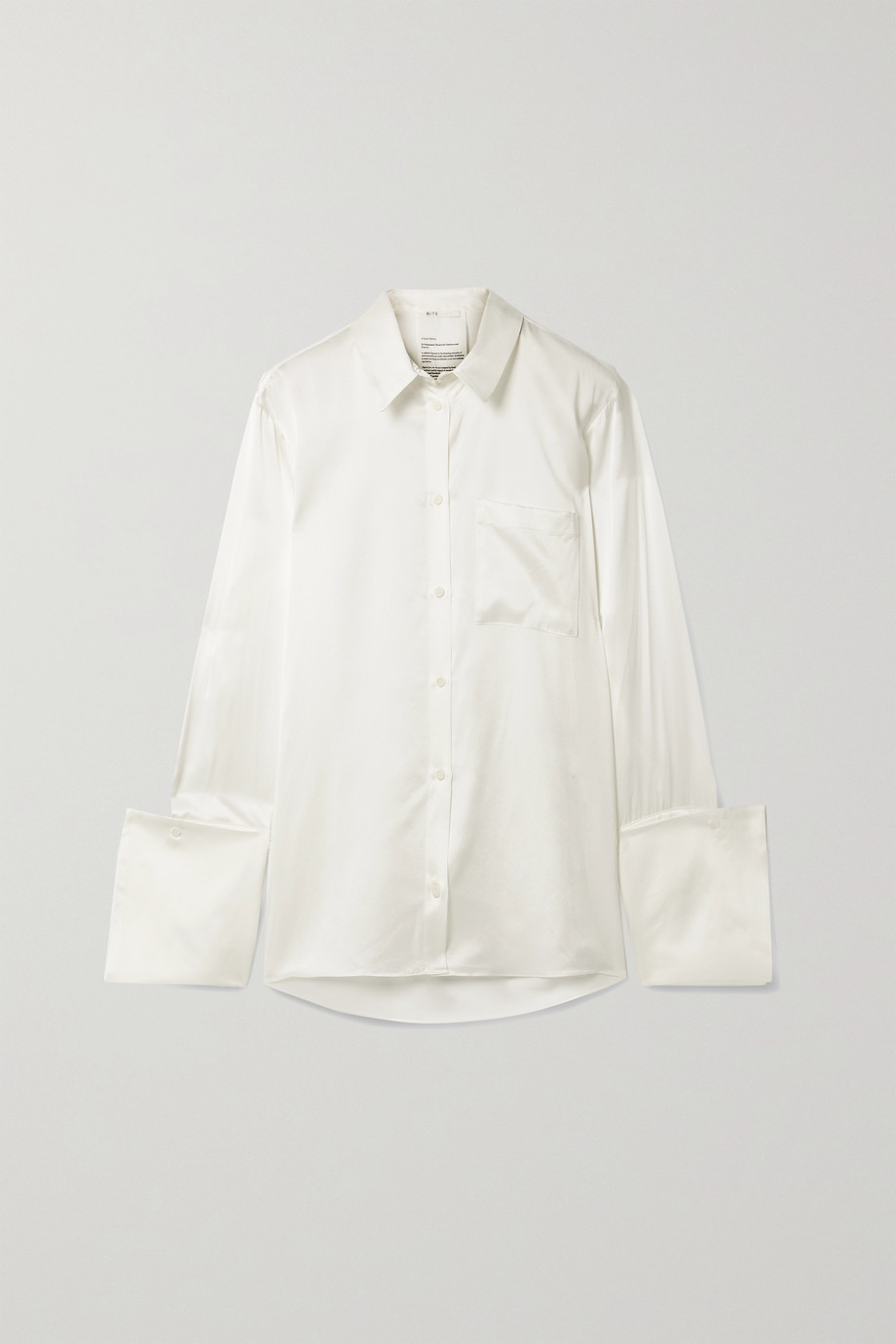 BITE STUDIOS Organic silk-satin shirt
