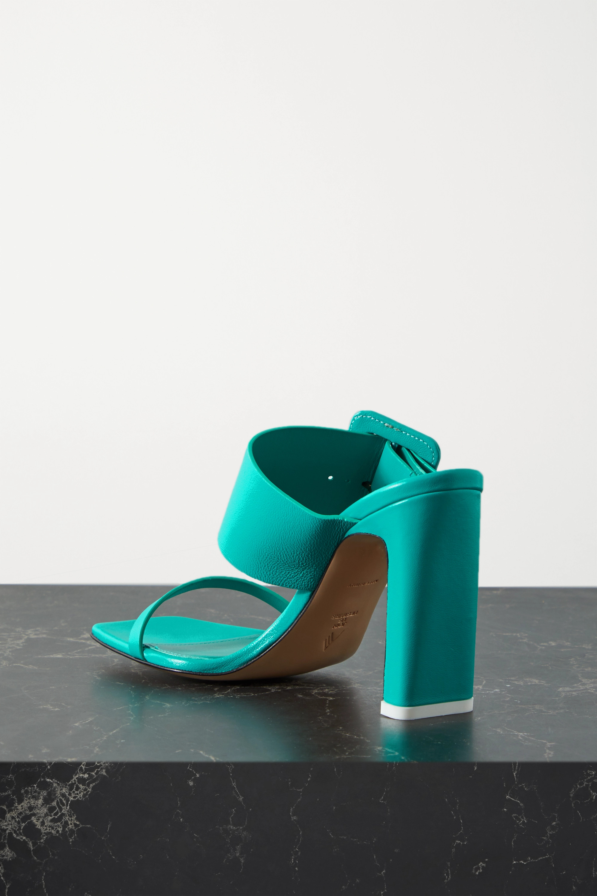 The Attico Naomi buckled leather mules