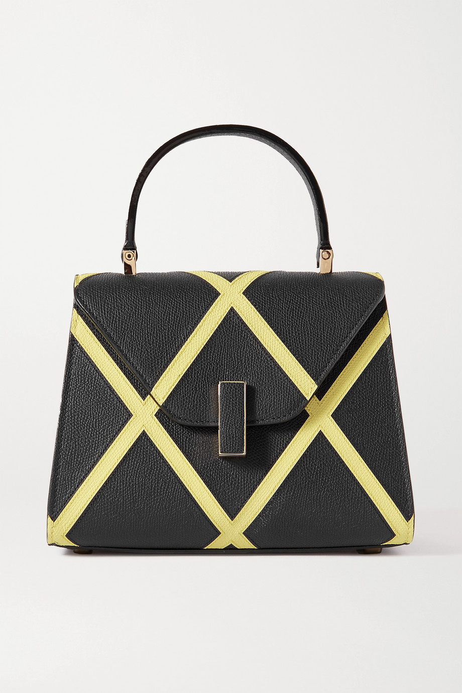 VALEXTRA Iside small two-tone textured-leather tote