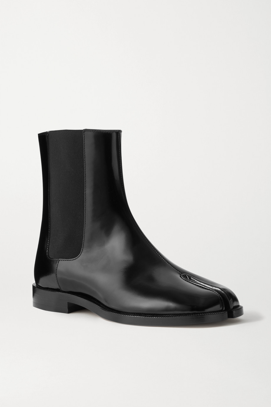 MAISON MARGIELA Tabi split-toe patent-leather Chelsea boots