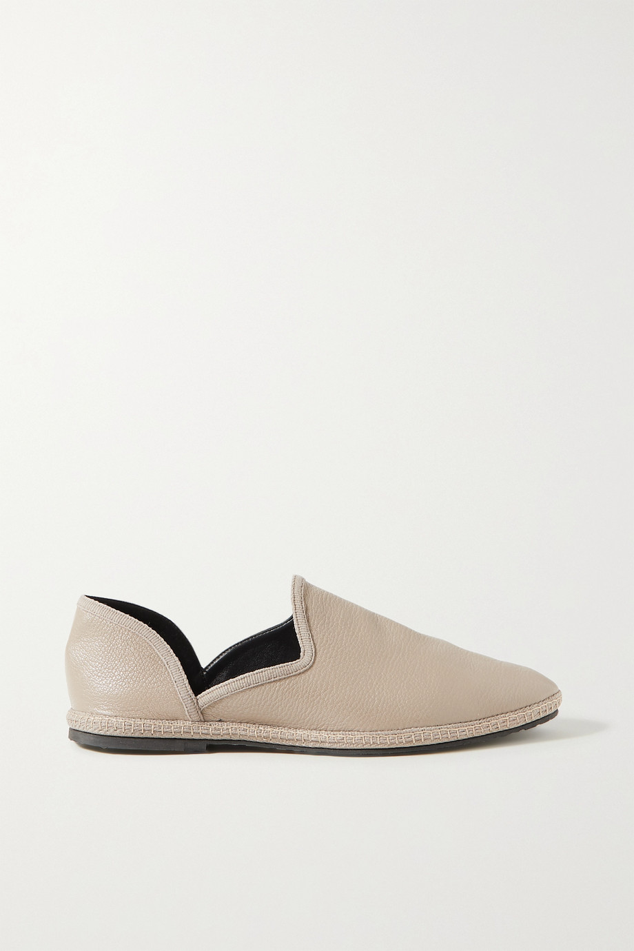 THE ROW Friulane textured-leather slippers