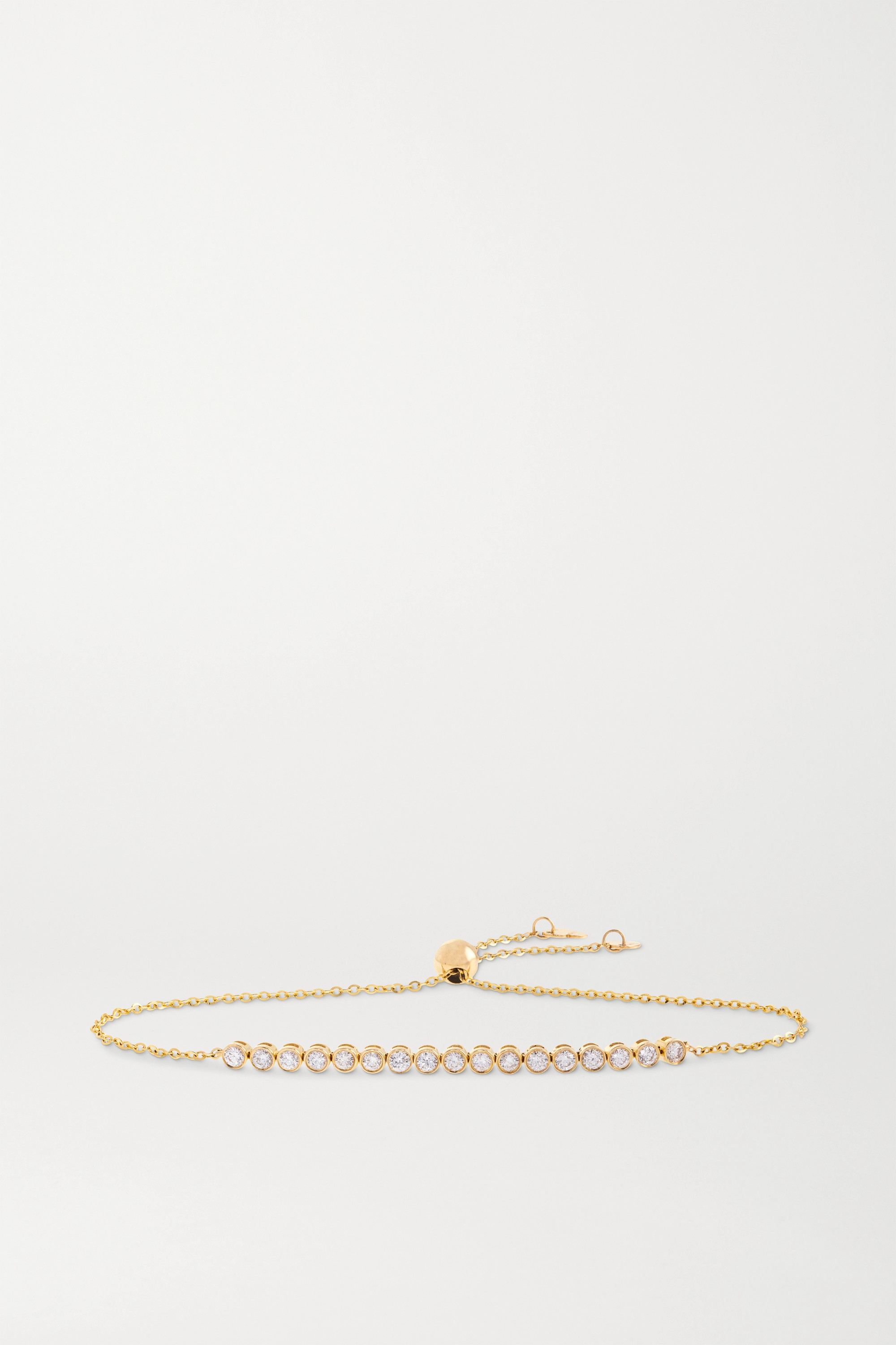 STONE AND STRAND Let It Slide 10-karat gold diamond bracelet