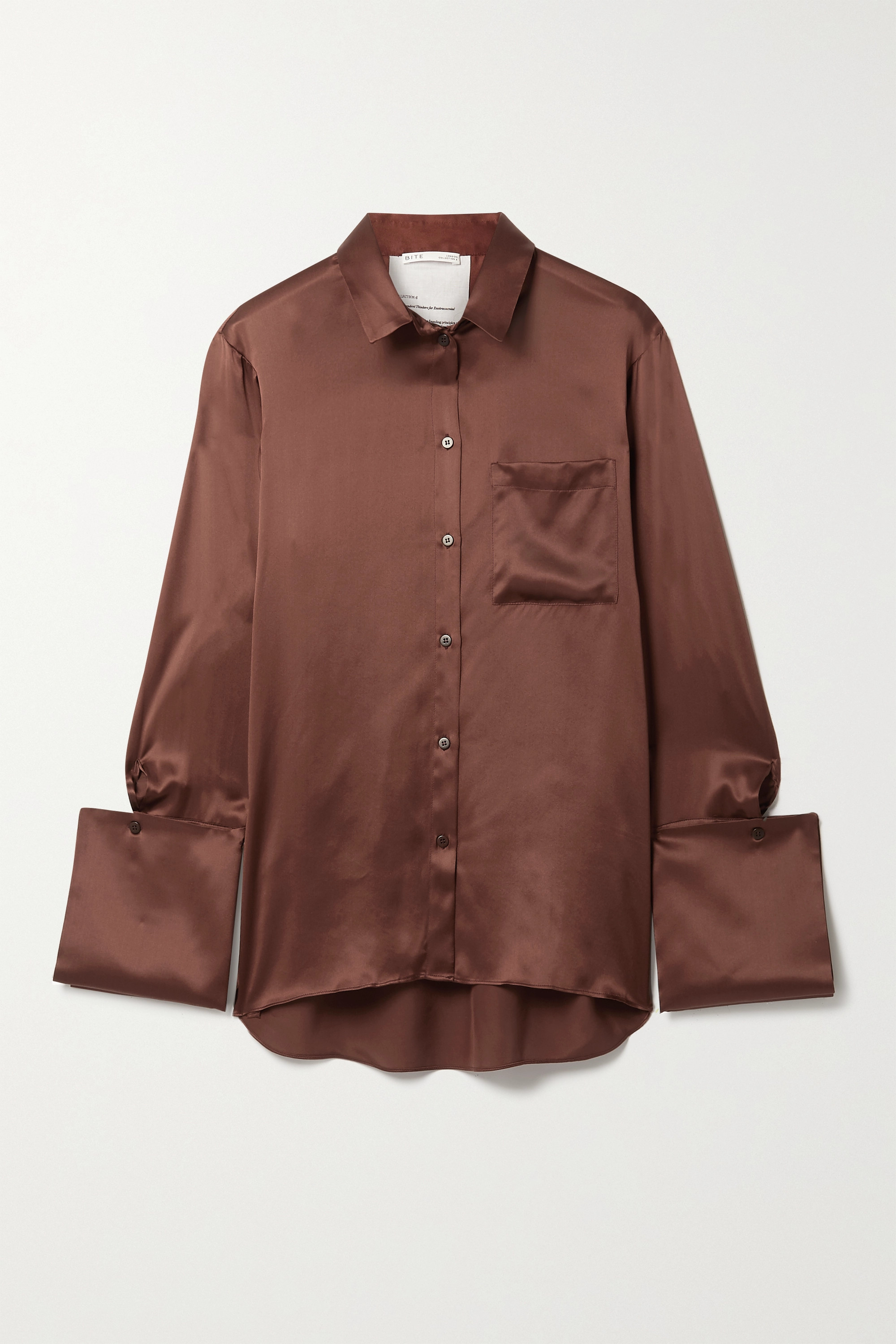 BITE STUDIOS + NET SUSTAIN organic silk-satin shirt