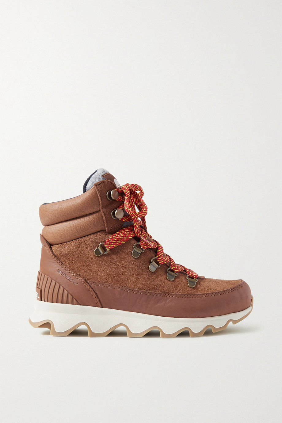 SOREL Kinetic Conquest felt-trimmed waterproof suede and leather ankle boots