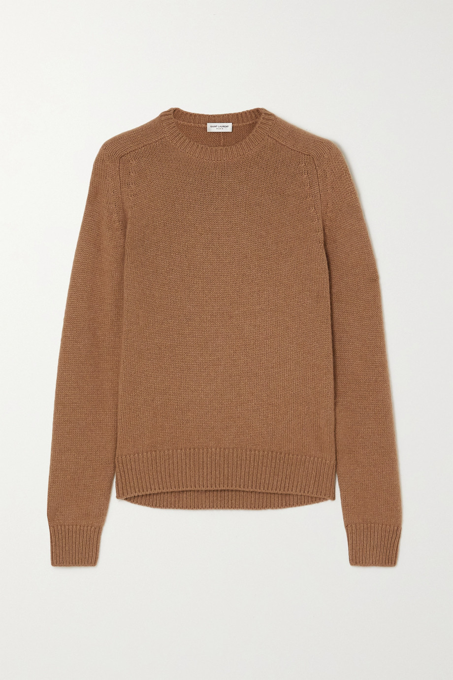 SAINT LAURENT Camel wool sweater