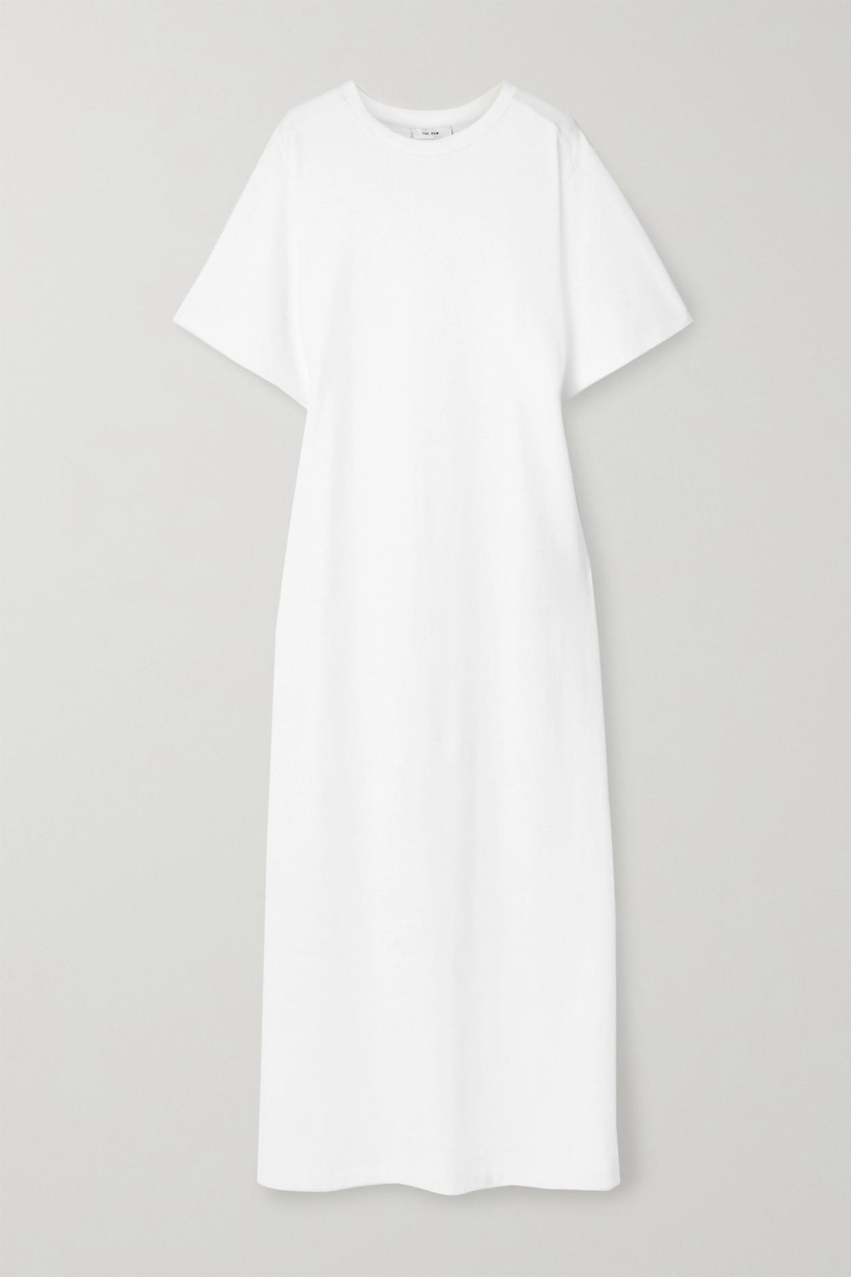 THE ROW - Aprile Cotton-jersey Maxi Dress - Ivory - medium
