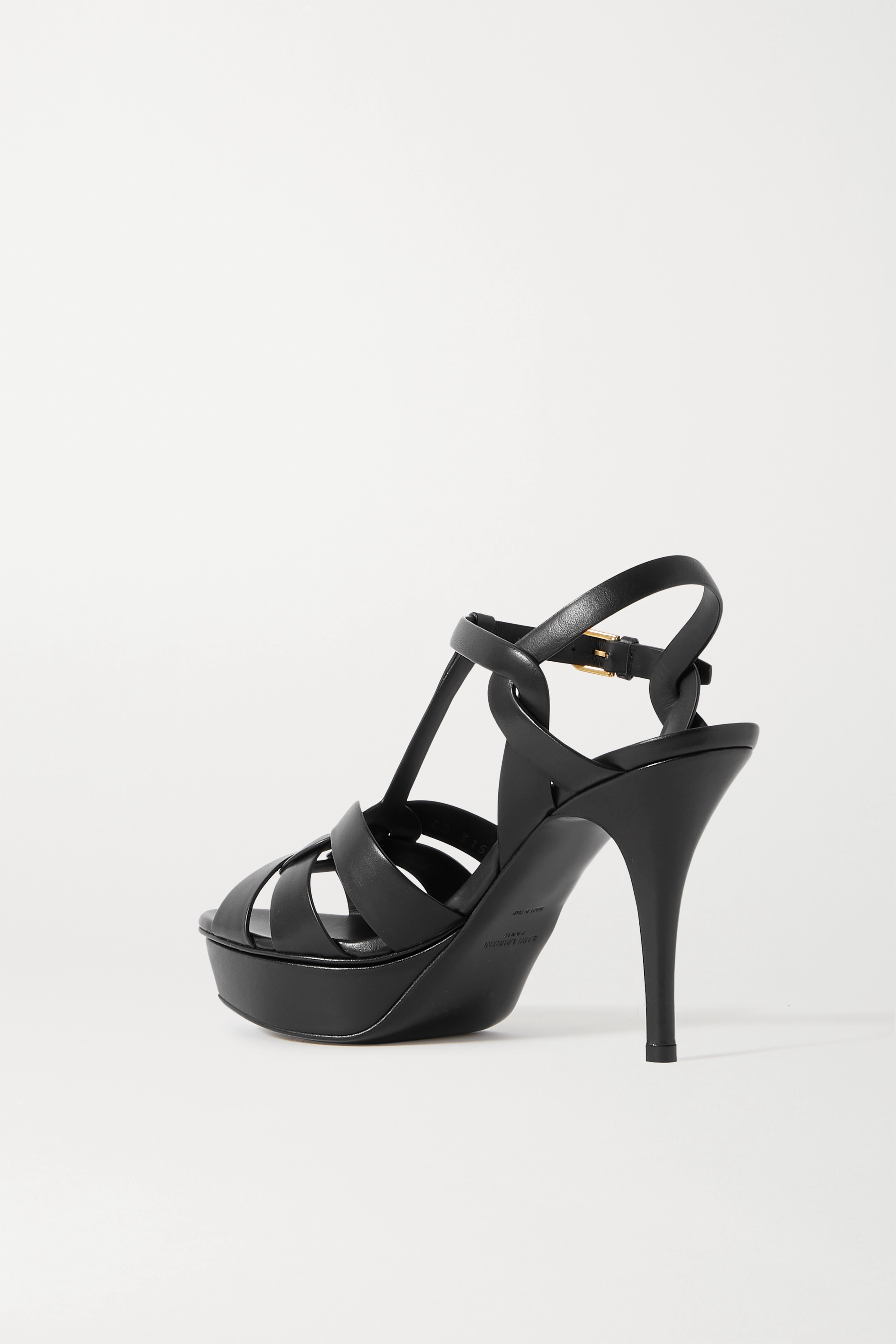 SAINT LAURENT Tribute woven leather platform sandals
