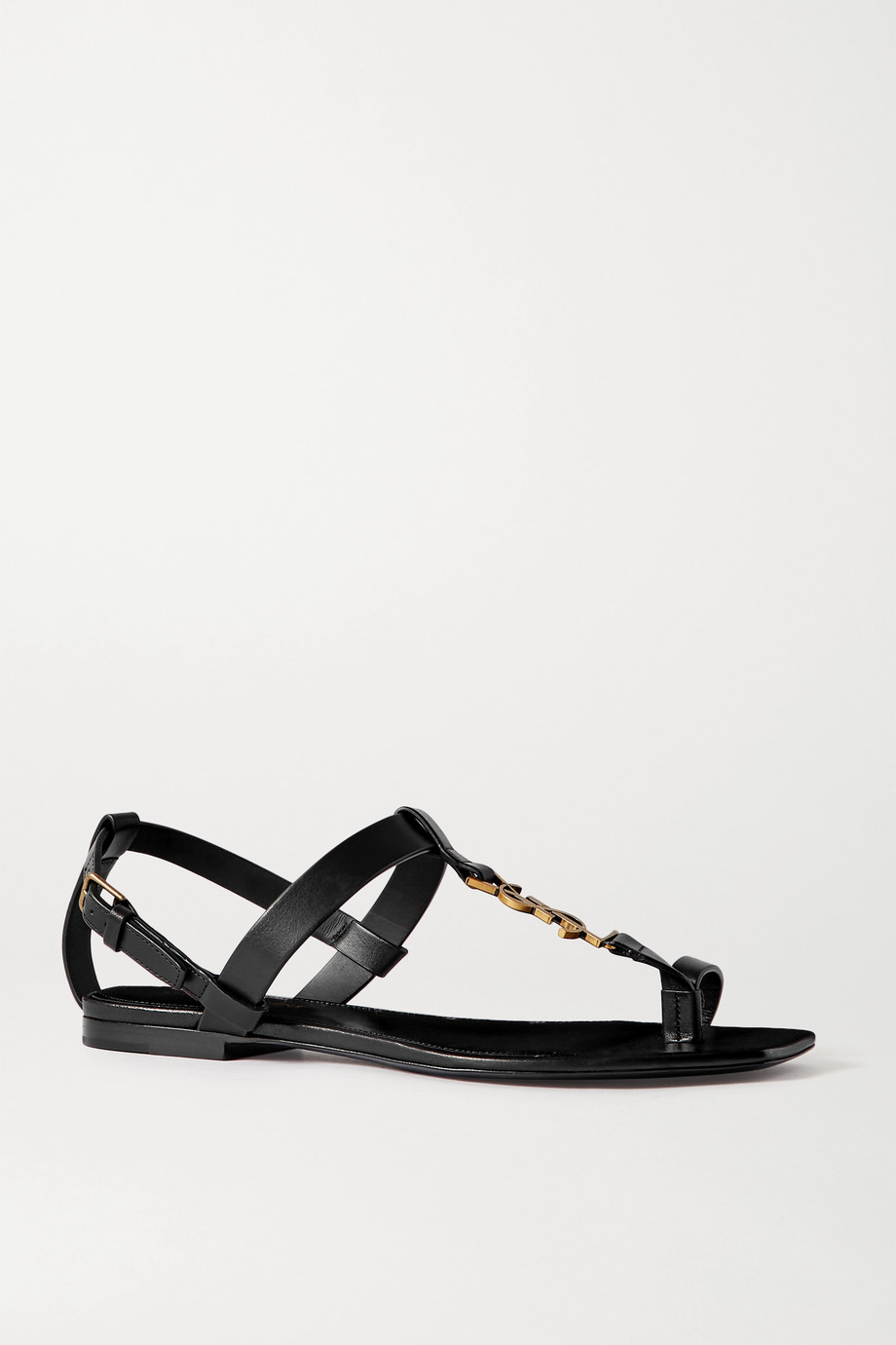 SAINT LAURENT Cassandra logo-embellished leather sandals