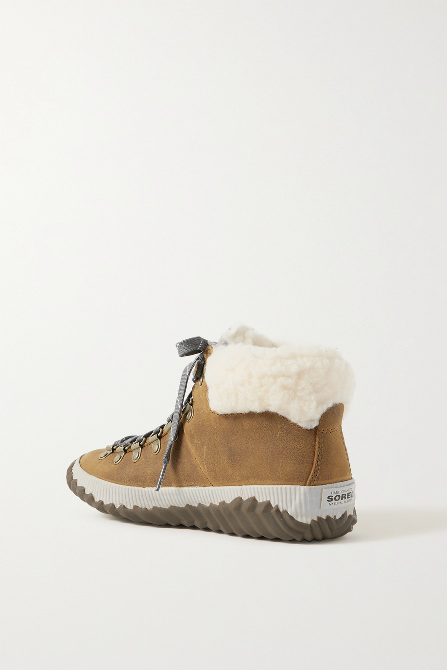 SOREL Out 'N About Plus Conquest faux shearling-trimmed waterproof suede ankle boots