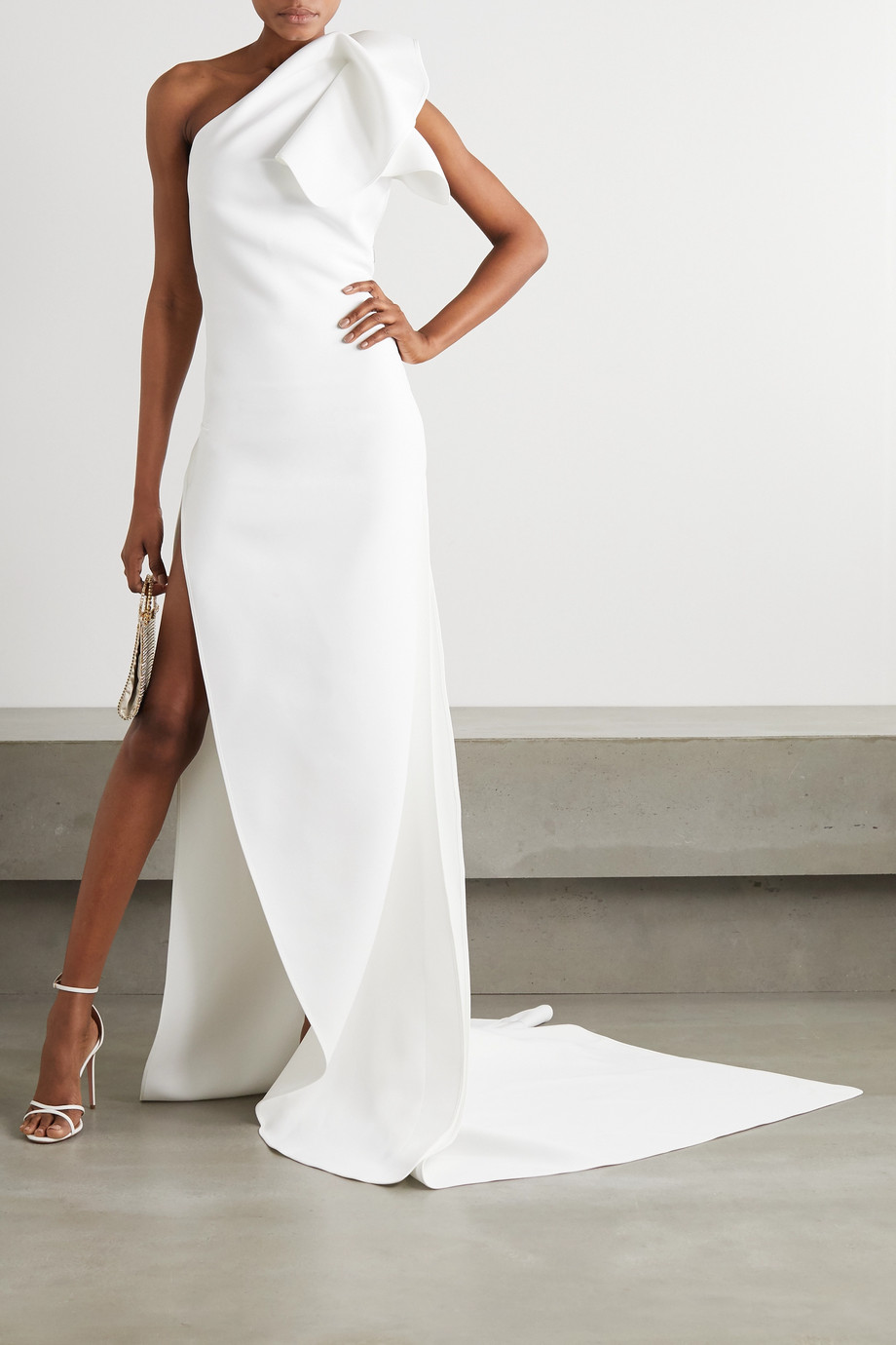 MATICEVSKI Indelible one-shoulder ruffled crepe gown