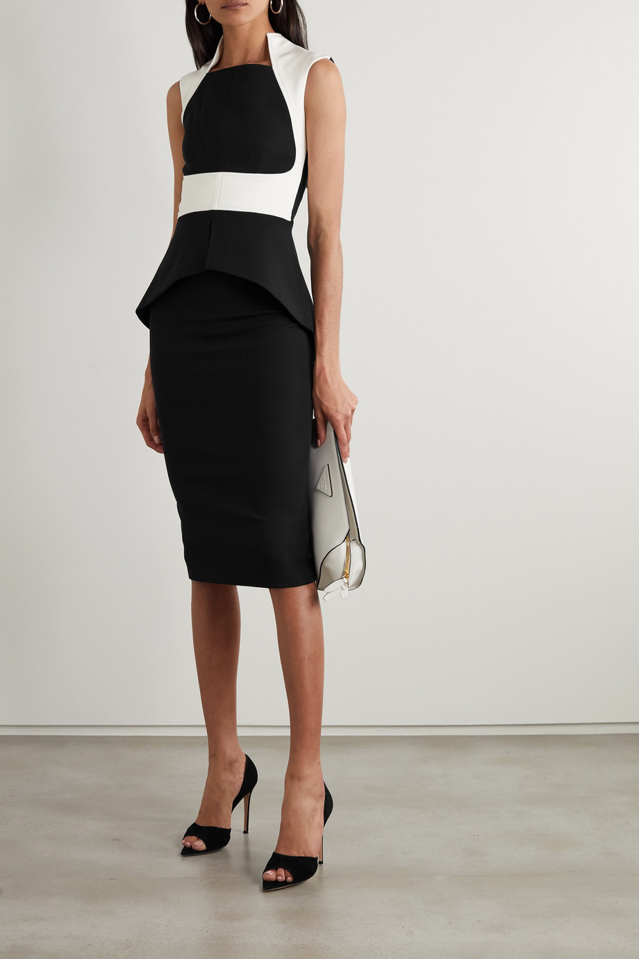 SAFIYAA Hokuku stretch-crepe skirt