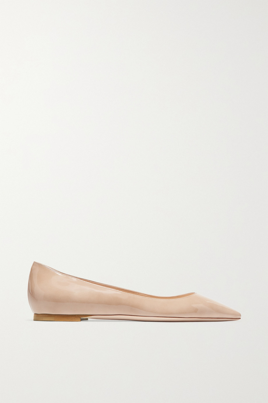 JIMMY CHOO Romy patent-leather point-toe flats