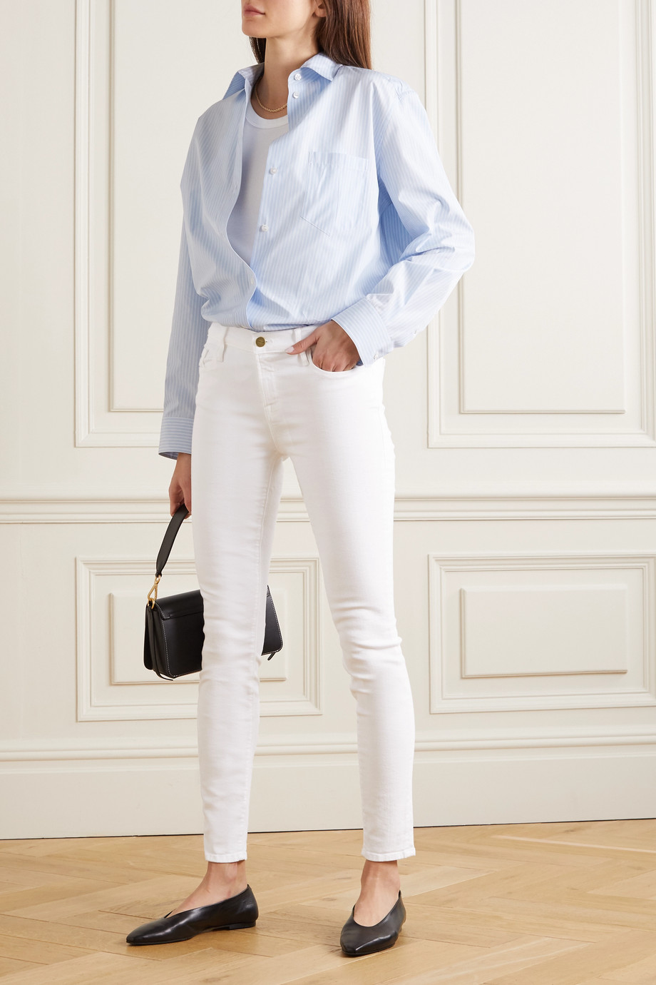FRAME Le Color mid-rise skinny jeans