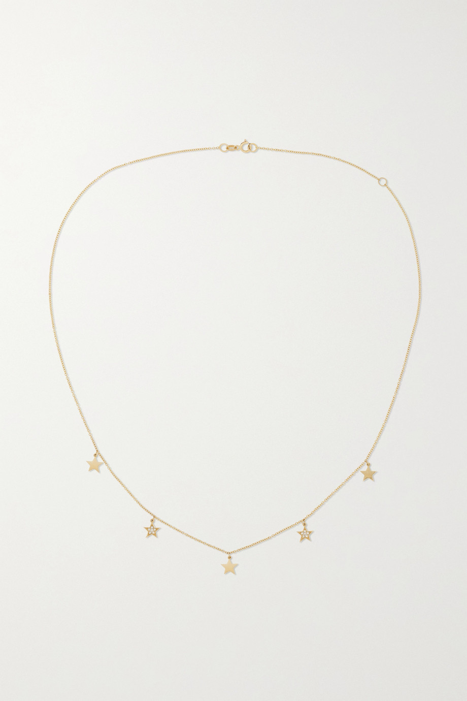 ANDREA FOHRMAN Star 14-karat gold diamond necklace