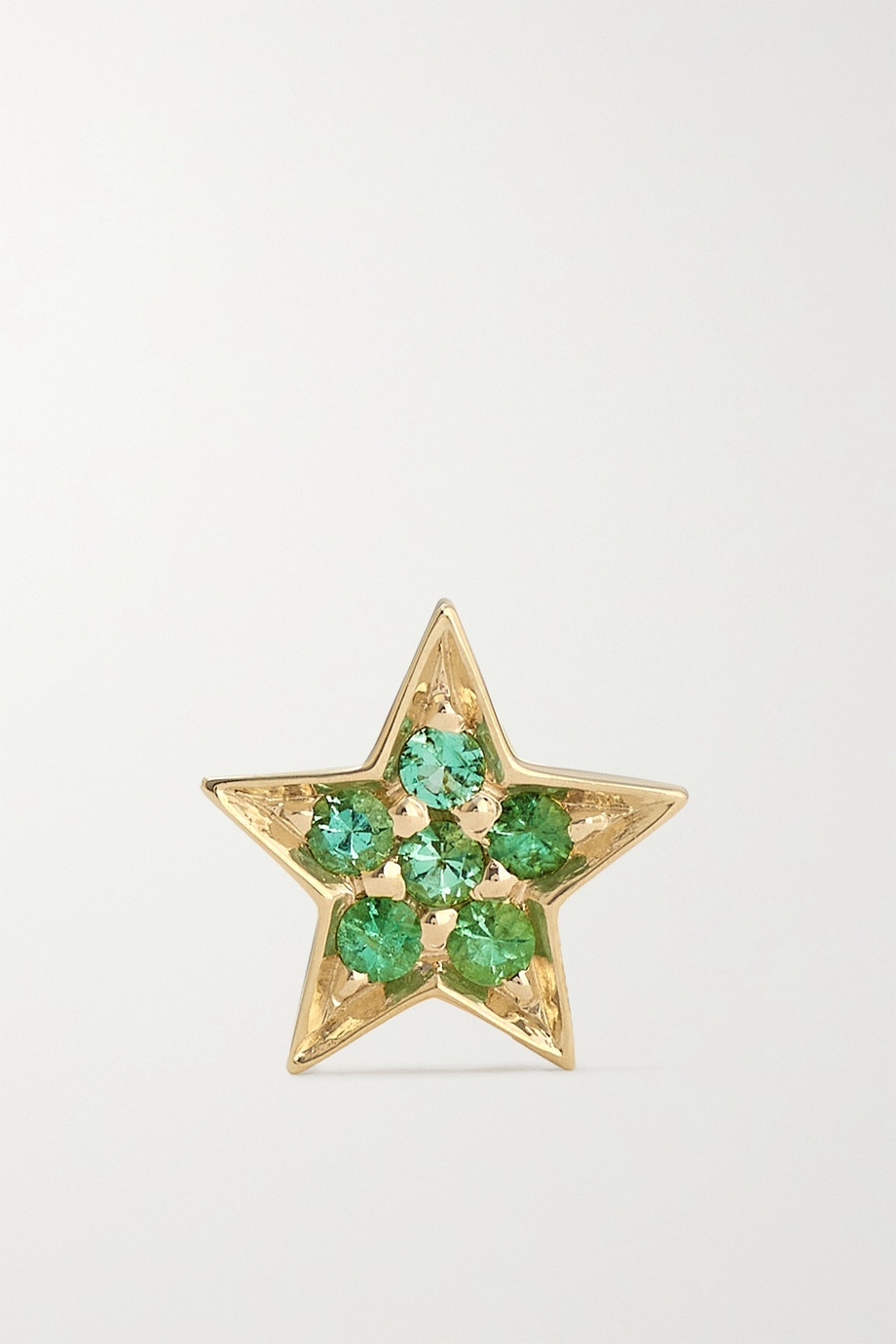 ANDREA FOHRMAN Mini Star 14-karat gold emerald earring