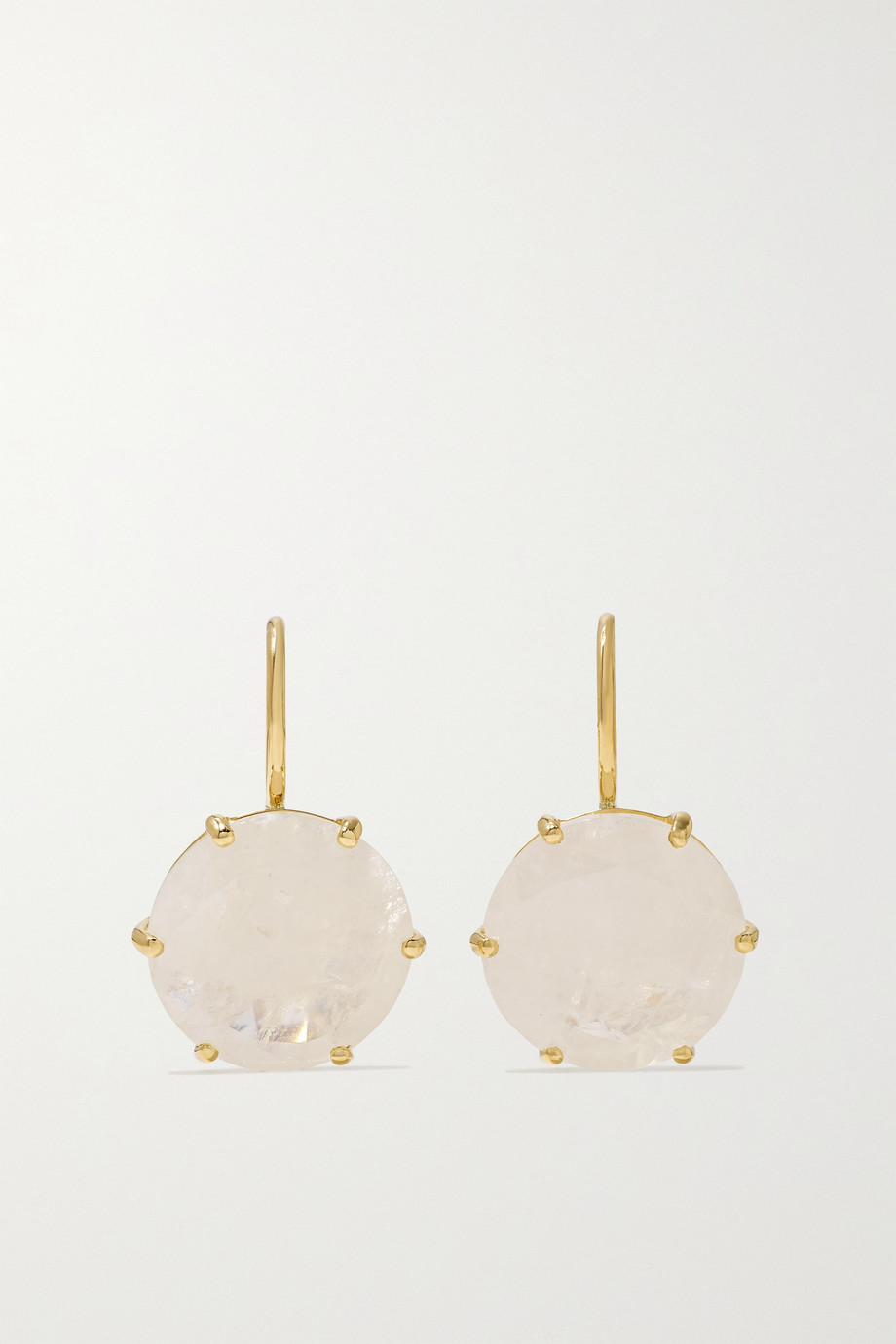 ANDREA FOHRMAN Georgia 18-karat gold moonstone earrings