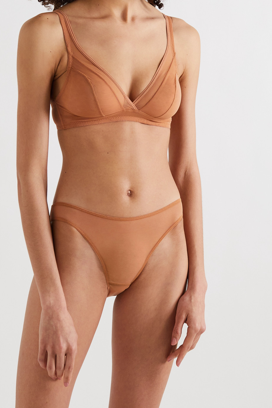 NUBIAN SKIN Stretch-tulle briefs
