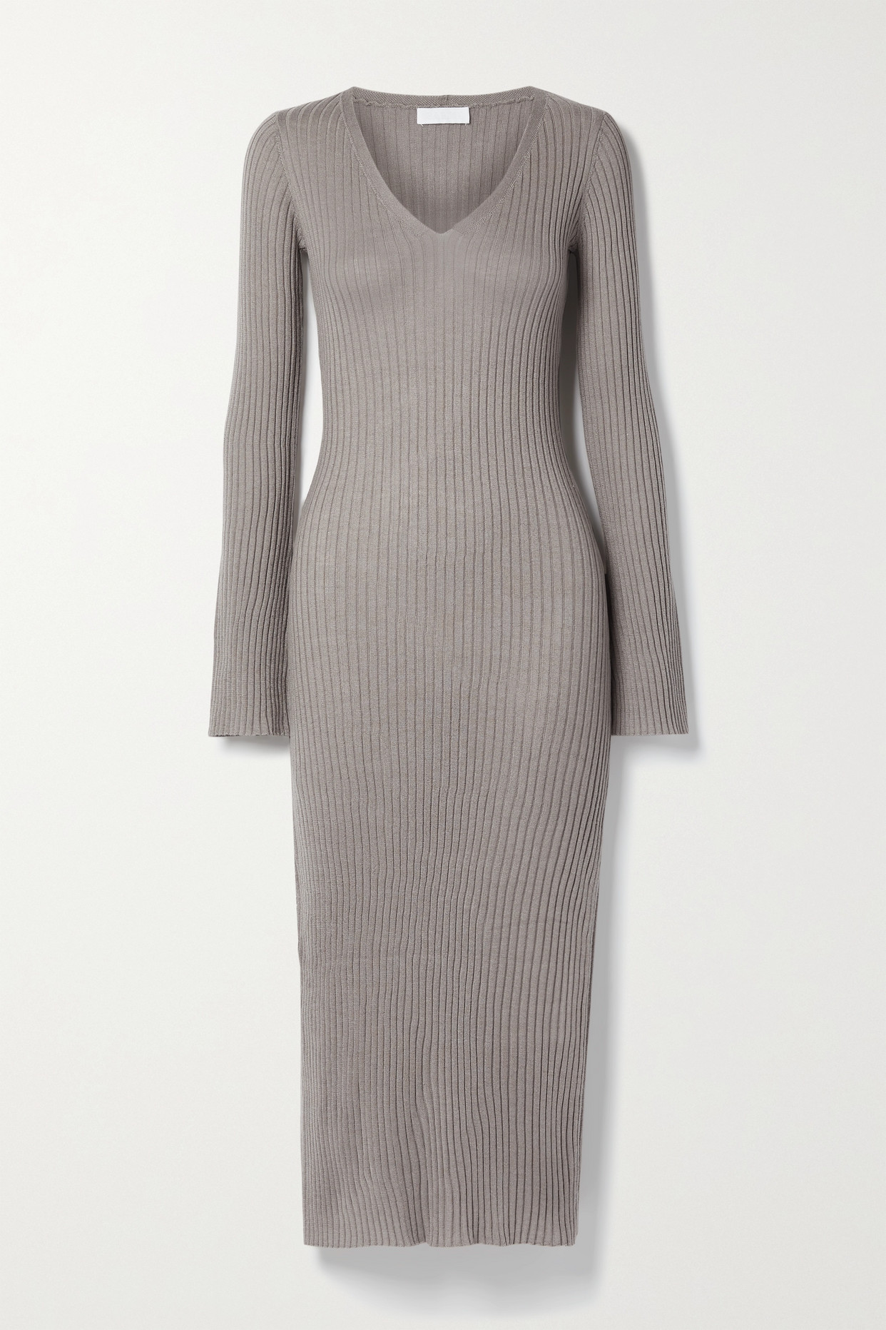 Sablyn Shelly Ribbed Cashmere Midi Dress In Neutrals