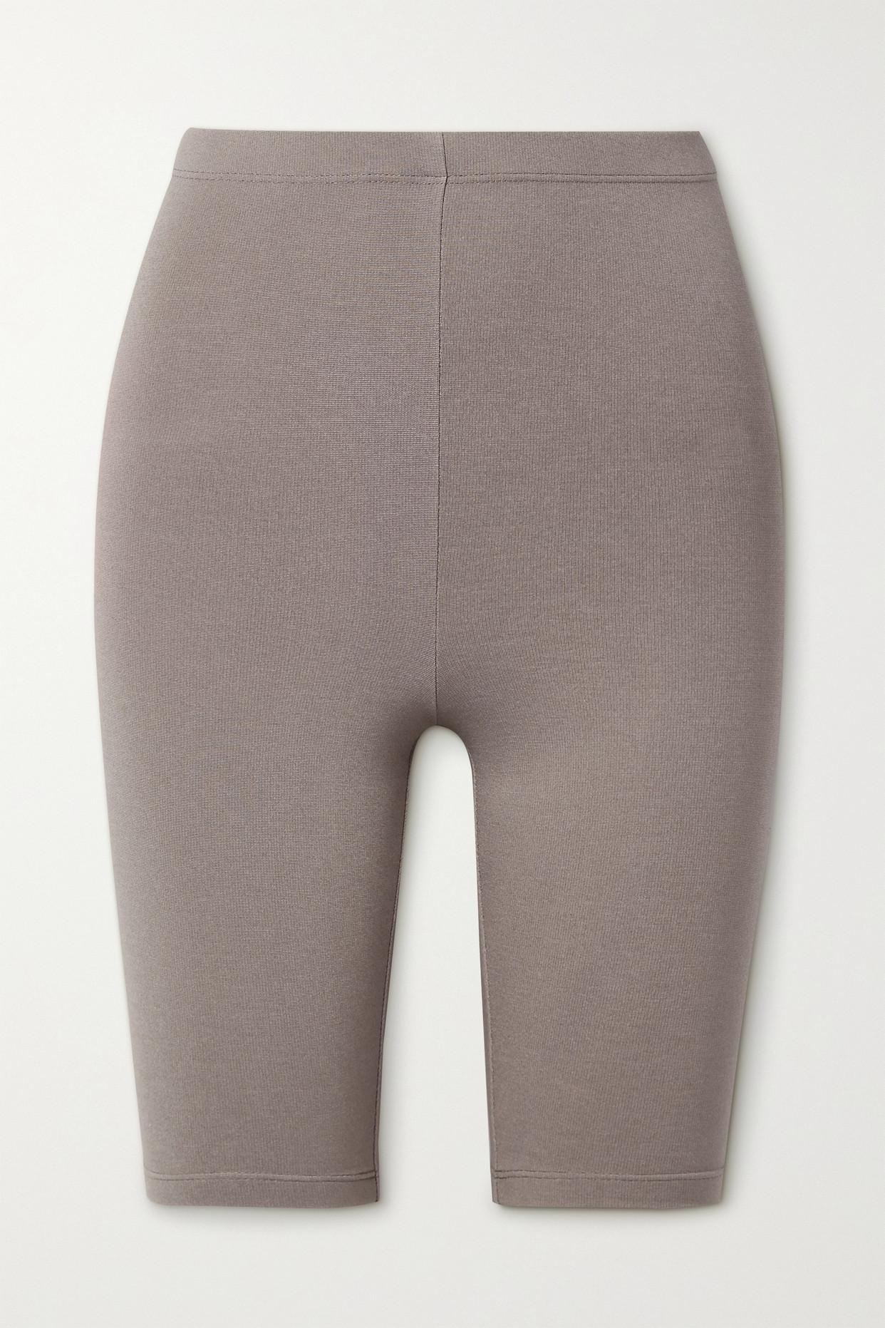 Sablyn Paulina Stretch-jersey Shorts In Neutrals