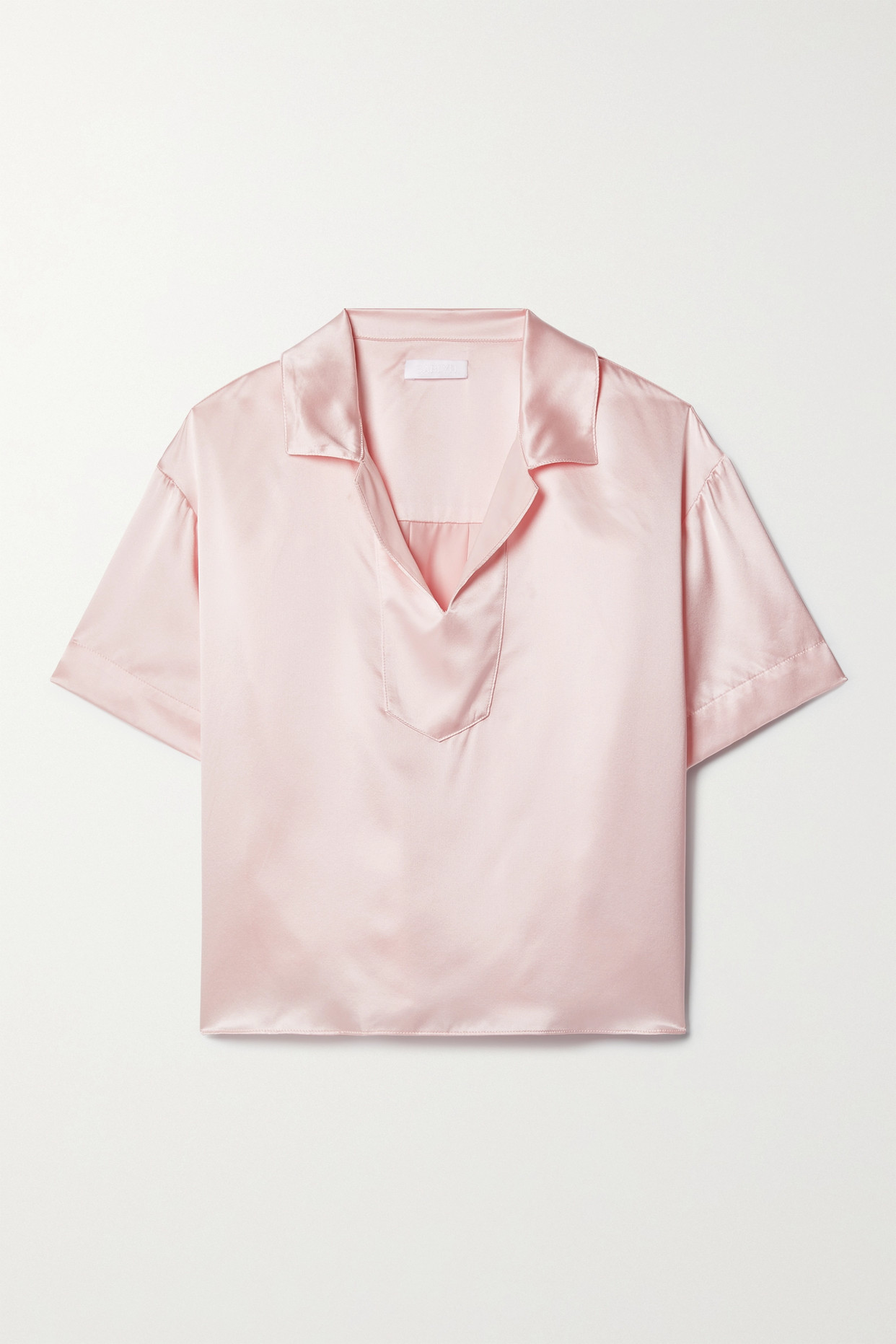 Sablyn Valeria Silk-satin Blouse In Pink