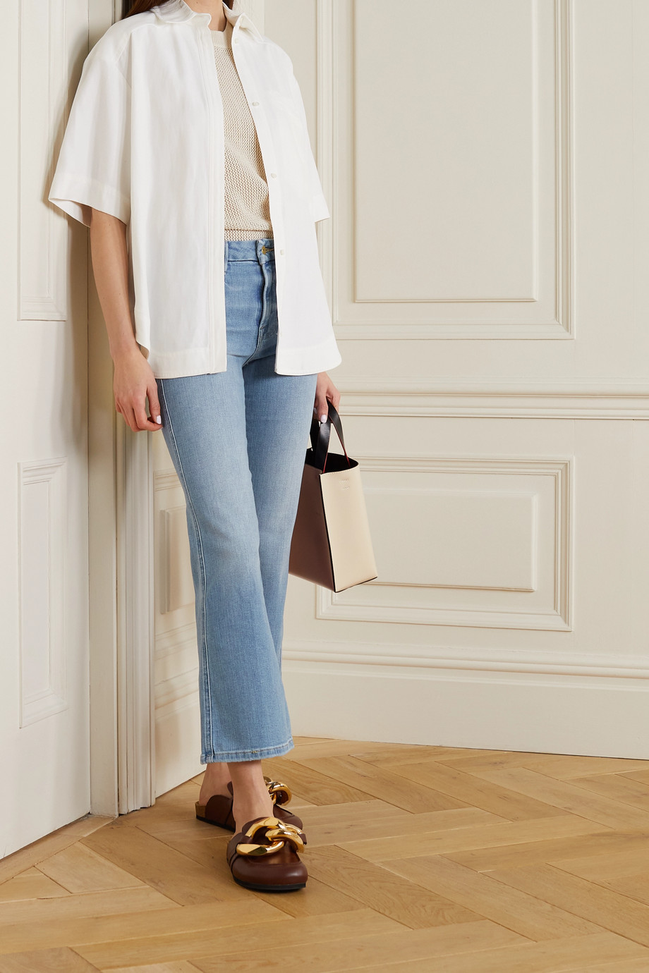 FRAME Le Crop Mini Boot high-rise jeans