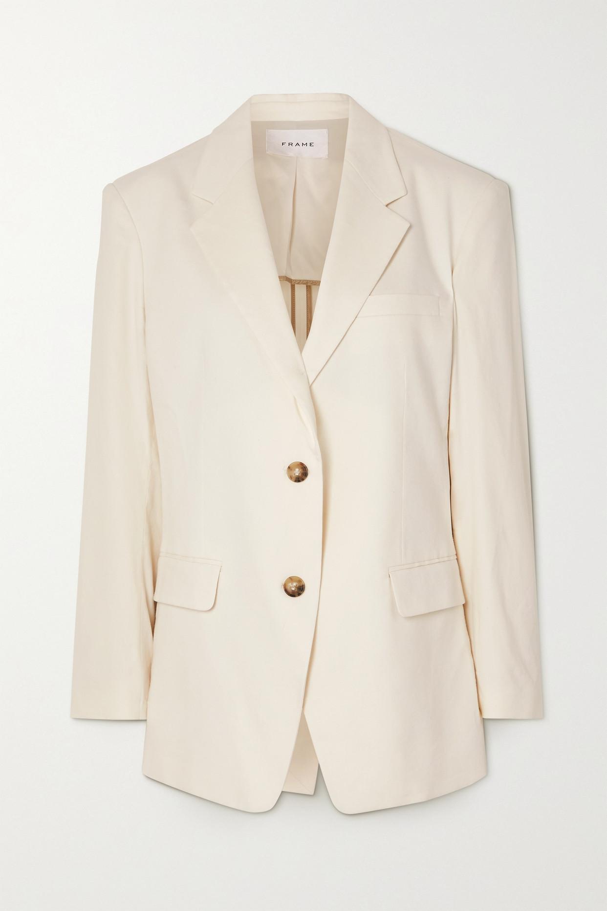 FRAME - Grandfather Cotton-blend Blazer - Off-white - small