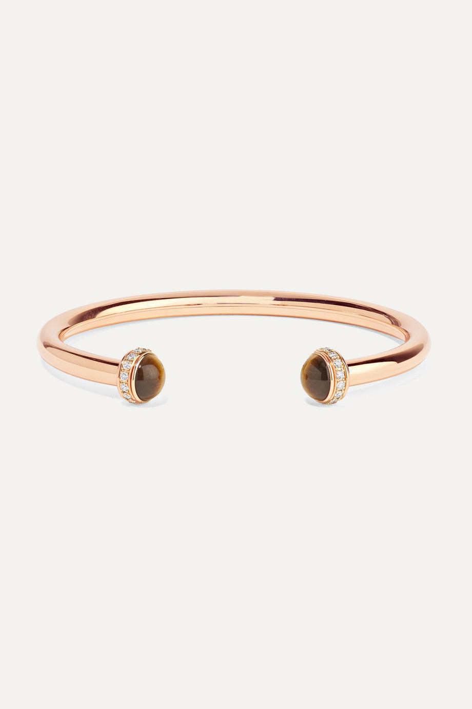 PIAGET Possession 18-karat rose gold, tiger's eye and diamond cuff