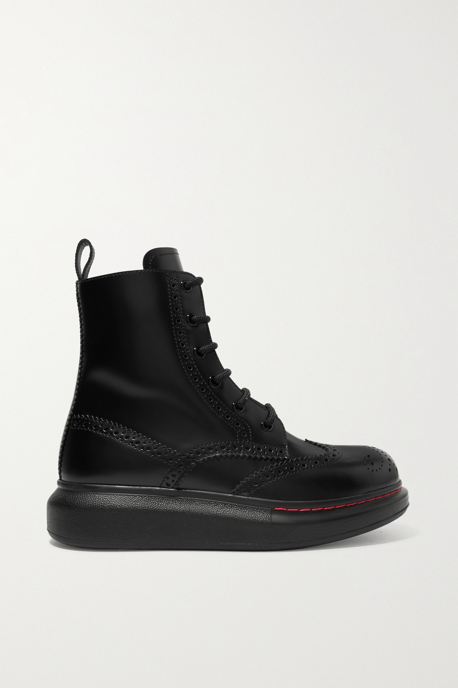 ALEXANDER MCQUEEN Leather exaggerated-sole ankle boots
