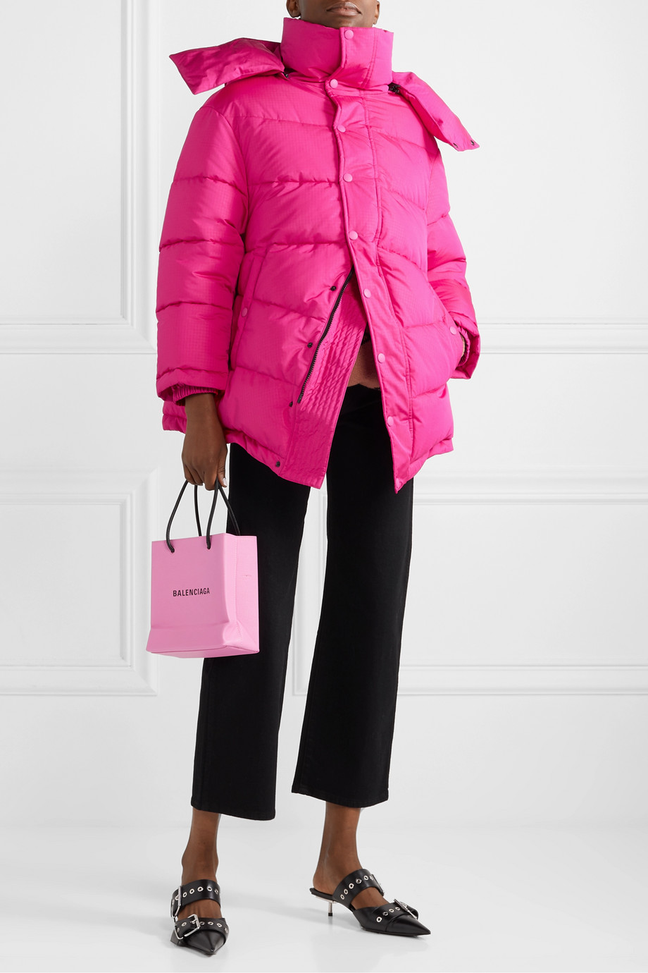 BALENCIAGA Swing oversized padded ripstop coat