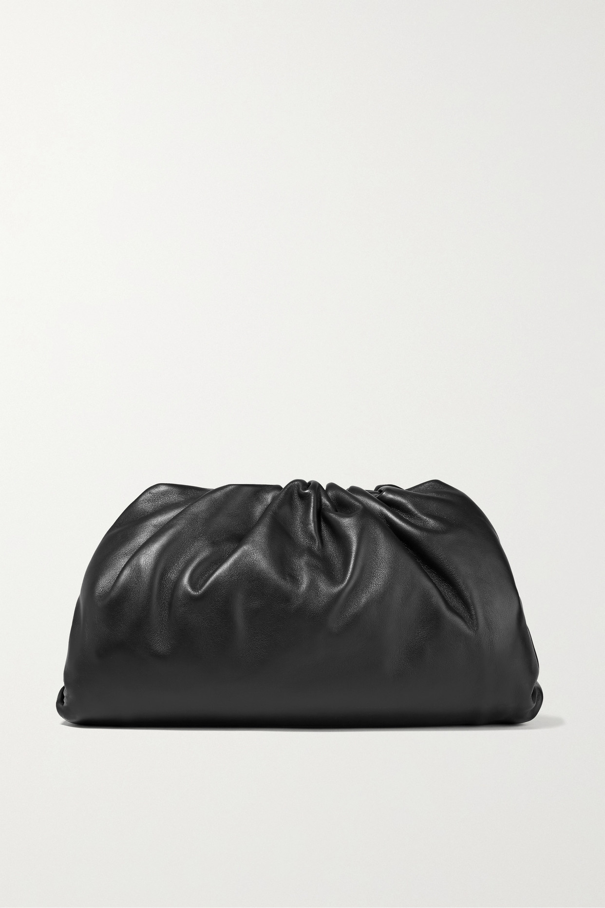 BOTTEGA VENETA - The Pouch 皮革大号手拿包 - 黑色 - One size