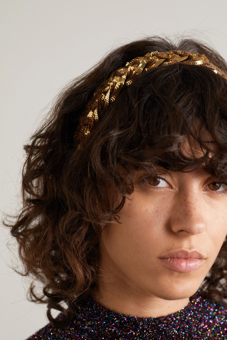 GUCCI Braided sequined tulle headband